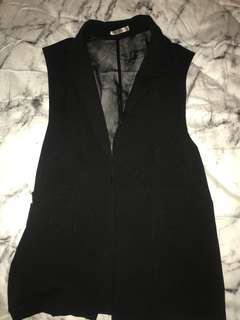 Ladies black vest
