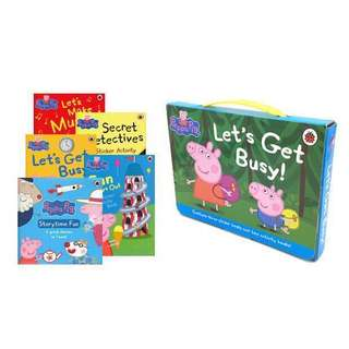 🚚 Brand new free delivery Peppa Pig Let's get busy 5 book sets