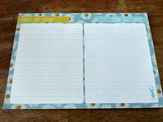 Typo A5 plan ahead blue daisy weekly sheets