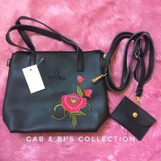 Floral bag with coin purse
