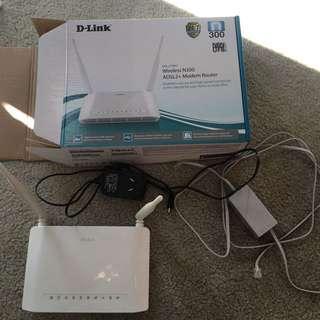 D-link Wireless Adsl2+Modem Router