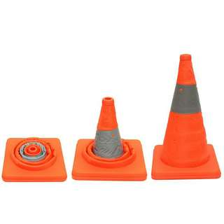 Reflective Collapsible Road Side Safety Cone 45cm