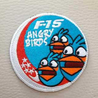 RSAF F-15SG Angry Birds aircrew patch