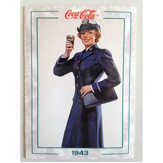 """1994 Coca Cola Series 2 Base Card #142 - """"Service Girl"""" - 1943"""