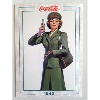 """1994 Coca Cola Series 2 Base Card #141 - """"Service Girl"""" - 1943"""