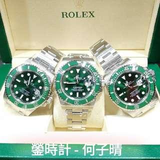 Rolex 116610LV 綠圈綠面 亂碼藍光