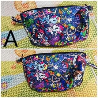 Brand new jujube x tokidoki seapunk and rainbow dreams customised pouch