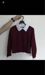 Peterpan collar long sleeve