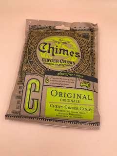 美國直送 全新Chimes Original Ginger Chews (5oz 141.8g) 原味薑糖