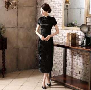 Black Glamourous Cheongsam