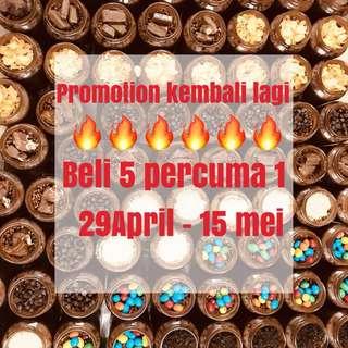 PROMTION BUY 5 FREE 1