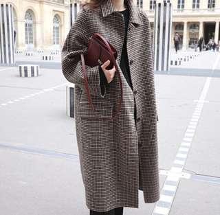 Checkered Trenchcoat