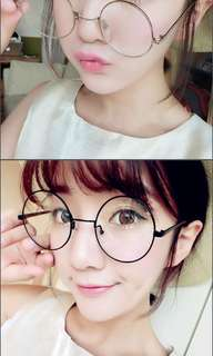 ULZZANG ROUND SPECS [GOLD]
