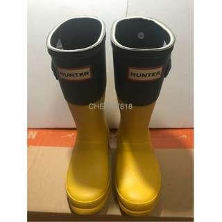 HUNTER 二手 KIDS 童裝 水鞋 防水鞋 UK10 EU28 US11B/12G aigle nike adidas water 小童水鞋 兒童水鞋