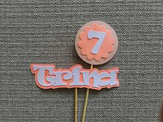 Customized Birthday Cake Topper / Flower Bouquet Topper