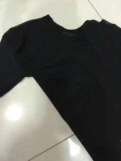 Pull and bear sheer black top size s fit to m