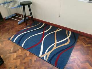 Blue printed carpet for sale
