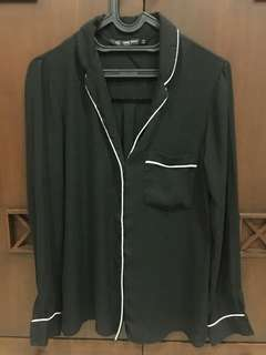 Zara black pyjamas blouse Size s