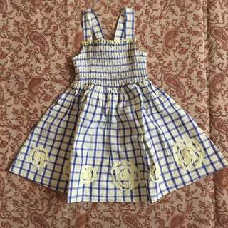Periwinkle Smock Dress 2 years old