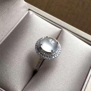 18K鑽石天然A貨高冰戒指