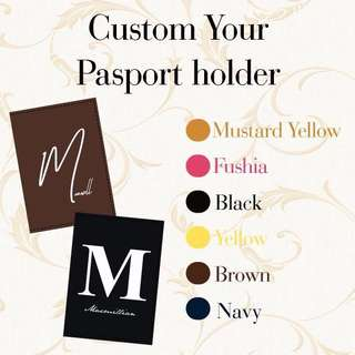 CUSTOM PASSPORT HOLDER saffiano leather initial name
