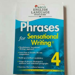 FIXED PRICE📬Brand New Casco Primary 4 English Language Study Guide Book (Phrases For Sensational Writing)