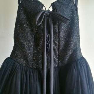 Black Off Shoulder Gown