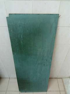 Preloved wooden board painted in blue