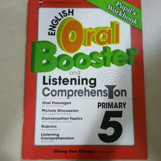 FIXED PRICE📬Brand New Primary 5 English Oral Booster Listening Comprehension Book + CD