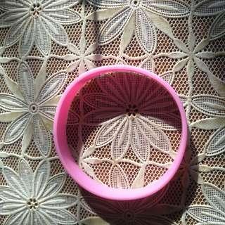 Plain Pink Wristband