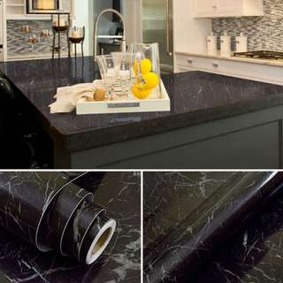 Black Marble Instock Wallpaper/Contact Paper/Home Decor