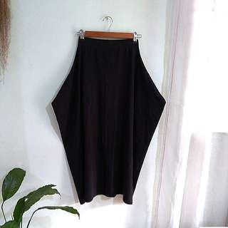Black avant garde stretchable long skirt, bought from tokyo