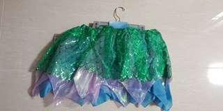 BN Disneystore Ariel Mermaid Skirt Size 13-14