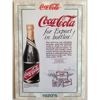 1994 Coca Cola Series 2 Base Card #128 - Export Bottle - 1920s