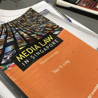 Media Law In Singapore: 4th Edition by Teo Yi-Ling