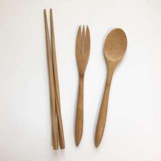 🚚 Home.竹製餐具三件組