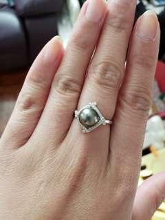 大溪地珍珠戒指