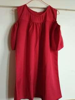 Dress cewe merah