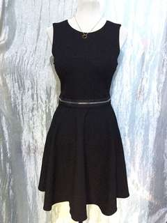Black Zipped Dress