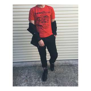 Goodyear Red Vintage Graphic Tee (2015)