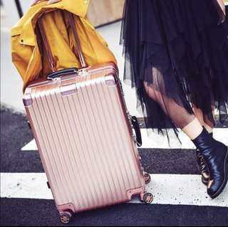 Cute, Stylish Rosegold Luggage Bag, Preorder, Available in larger sizes & other colours