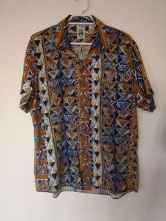 Vintage pattered funky shirt