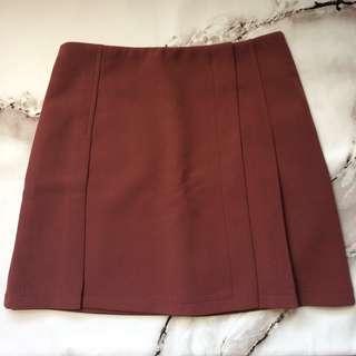 磚紅色 半截裙 防走光