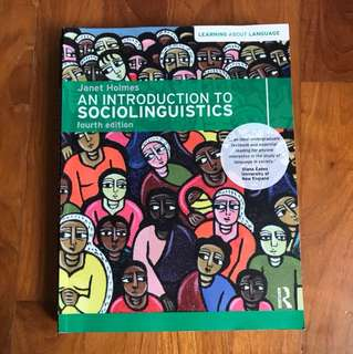 An Introduction to Sociolinguistics 4th edition