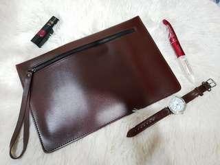 Brown Leather Envelop