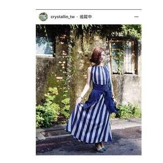 🚚 Dresscode 夏日條紋長洋裝