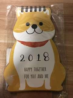 2018 dog calendar