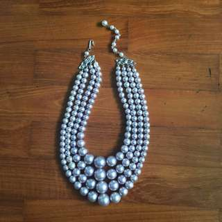 Vintage Pearl Necklace with Hook-On Clasp (The Great Gatsyby Style)