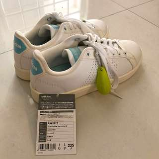 Adidas white leather cloudfoam sneakers (authentic)