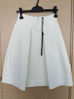 Edition flare skirt 白色短裙